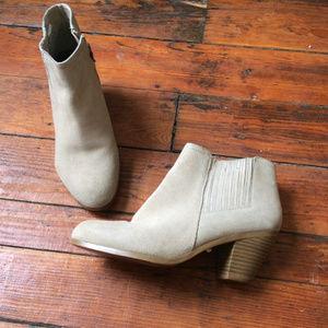 Ann Taylor Loft Cream Sueded booties 8M